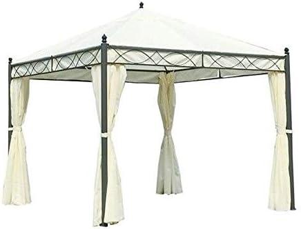 NO aplicable cenador, Estructura de Metal + Lonas latarali Muebles de jardín Exterior Dakota: Amazon.es: Jardín