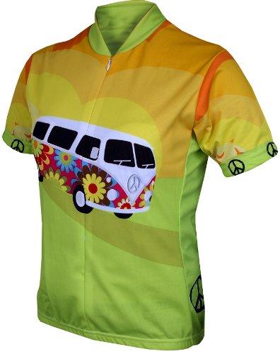 World Jerseys Women's Hippy Van Cycling Jersey, Hippy Van, X-Large (Hippy Van)