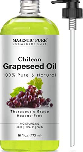 Majestic Pure Grapeseed Oil, Pure & Natural Massage and Carrier Oil, 16 fl oz