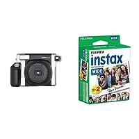 Fujifilm Instax 300 Wide Fotocamera Istantanea per Stampe Formato 62 x 99 mm, Nero/Argento + 2 x Fujifilm Instax WIDE FILM 10 F. 2 Pack Pellicola Instantanea per Fujifilm Instax 210 Wide