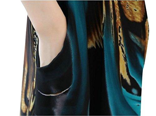 Chiffon Dress 2 Sleeveless Printed V Midi Wrap Women's Jaycargogo Summer Neck Slim tW8w0v0qnP
