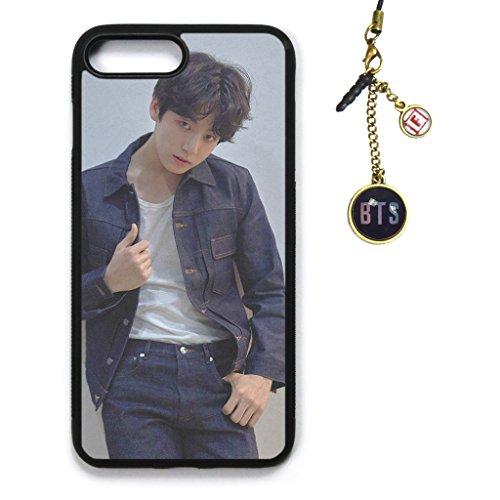 Fanstown Kpop BTS Bangtan Boys iPhone7PLUS/iPhone8PLUS case Love Yourself 轉 Tear + Album Logo Pendant (G12)