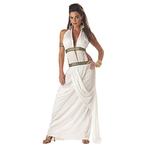 California Costumes Women's Spartan Queen, White, -