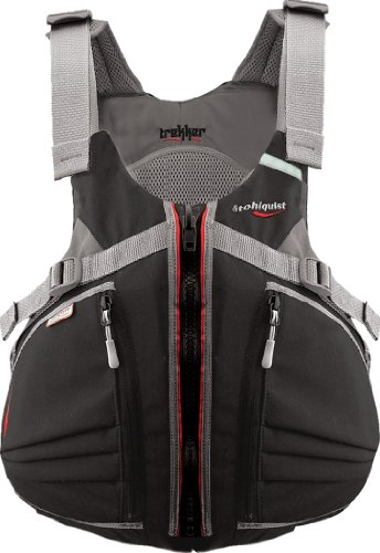 Stohlquist Men's Trekker Life Jacket/Personal Floatation Device (Black, Large/X-Large)