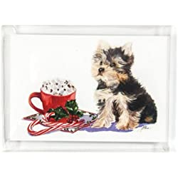 Rainbow Card Company 10-pack Christmas Cards with Envelopes - Yorkie