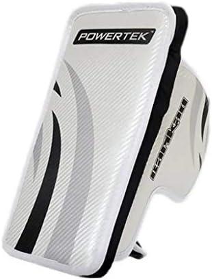 """PowerTek Barikad V2.0 Junior Hockey Goalie Pad Set 26/"""" Leg Pads Glove /& Blocker"""