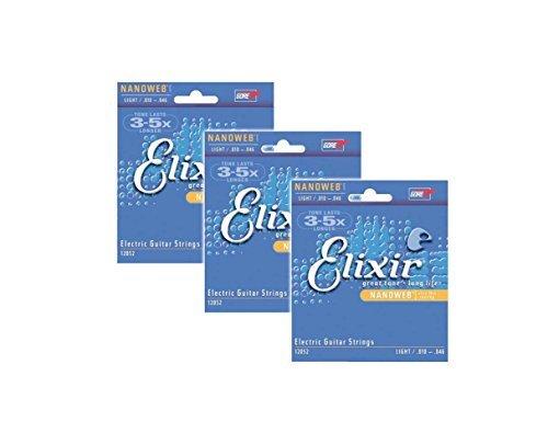 Elixir Strings 12052 Nanoweb Electric Strings .010-.046w Light - - Nanoweb Electric Light 12052 Guitar