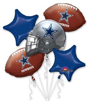 Dallas Cowboys Football Balloon Bouquet NFL Team Party Supplies Set