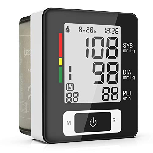 Wrist Blood Pressure Monitor, 2-User, 90 Readings Memory, LCD Large Screen, Digital Home Blood Pressure Machine with Clinically Accurate & Fast Reading - FDA Approved