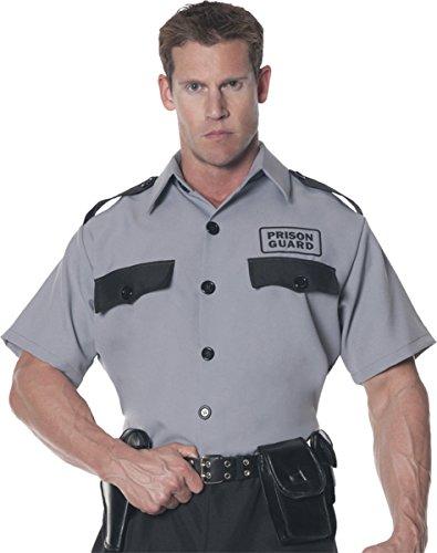Morris Costumes Men's Prison Guard Shirt, One (Male Prison Guard Costume)