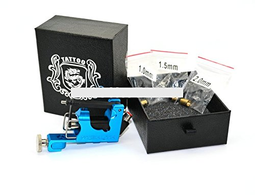 Noiseless Tattoo Gun Rotary Tattoo Machine Complete with three bearings only 100g Blue by Unknown