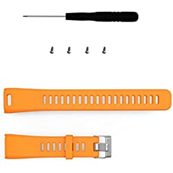 Garmin Vivosmart HR Watch Band, Forthery Smart Watch Silicon Replacement Wrist Band Watchband+ Tools (Orange)
