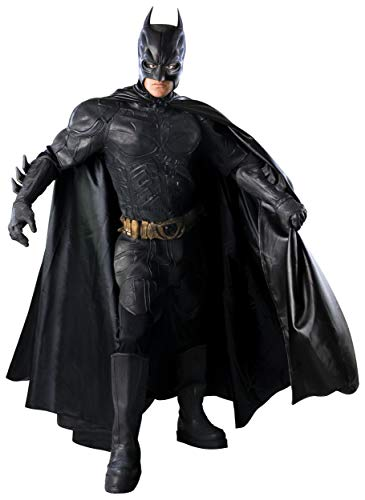 Batman: The Dark Knight Deluxe Grand Heritage Collection Costume, Black, -