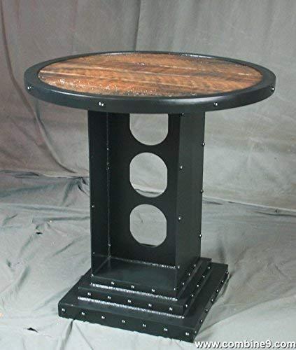 Amazon.com: Vintage Industrial Bistro Table. Industrial ...