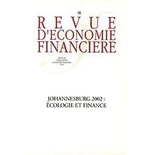 JOHANNESBURG 2000 : ÉCOLOGIE ET FINANCE