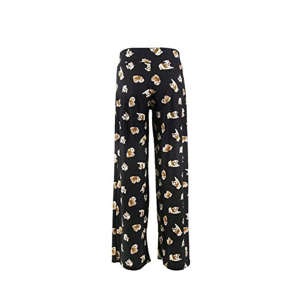 Buttery Soft Pajama Pants for Women – Floral Print Drawstring Casual Palazzo Lounge Pants Wide Leg for All Seasons 3