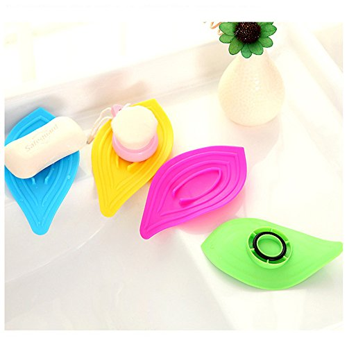 (️ Yu2d ❤️❤️ ️Multifunction Sliding Ring Leaves Soap Box Sink and Kitchen Sink Sponge Holder)