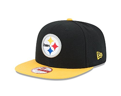a4ade217cac4ba Amazon.com : New Era NFL Historic Baycik Snap 9FIFTY Original Fit Cap,  Black/Gold, One Size : Clothing