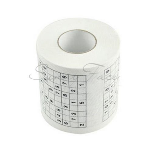 Durable Sudoku Su Printed Tissue Paper Toilet Roll Paper Good Puzzle Game