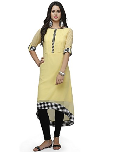 d144fa9a12e3 Fashion Forever New Look Latest Women s Daily Wear Yellow Georgette ...