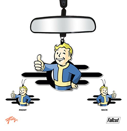 JUST FUNKY Fallout Vault-Tec/Vault Boy OFFICIAL Blue colored Air Freshener - New Car Scent