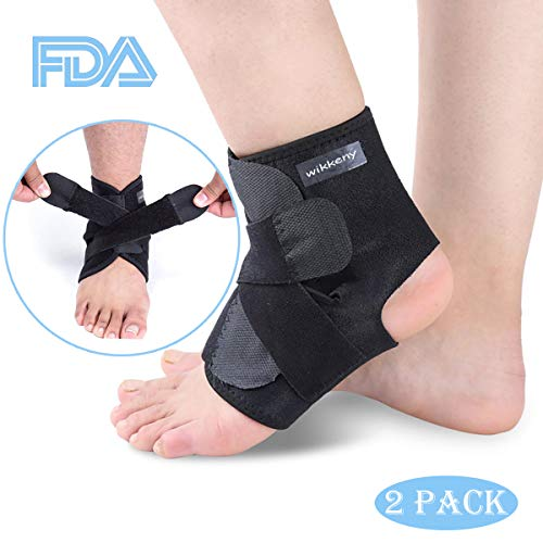 Ankle Brace for Men and Women,Ankle Support Brace 2 Pack,Adjustable Ankle Compression Brace for Sports Protection,One Size Fits all.