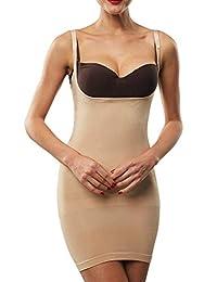 Franato Women's Shapewear Dress Control Slip Full Body Shaper Open Bust
