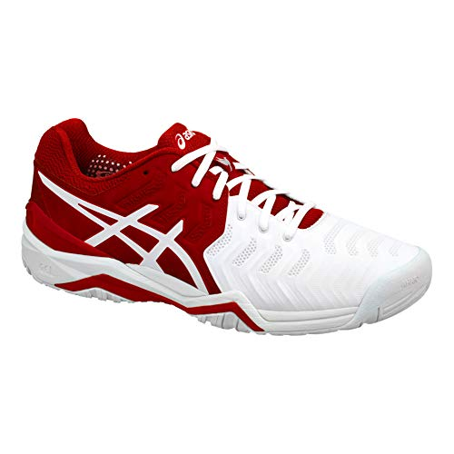 Tennis Tout Chaussure Asics De Novak Hommes Terrain 48 Chaussures Blanc Rouge Gel Resolution nxUwYw1q48