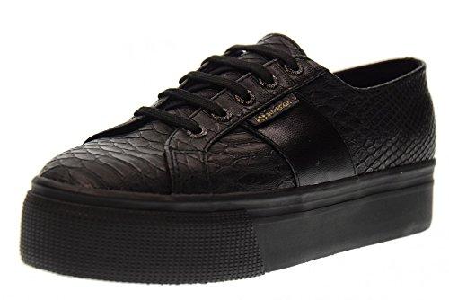 SUPERGA zapatos de mujer baja S00CJZ0 zapatillas de deporte de la plataforma F90 2790 PUSNAKEW talla 35 NEGRO