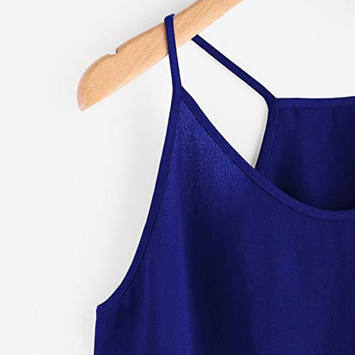 Women's Sleeveless Camisole Tops Fashion HimTak Casual Sleeveless Lace Hem Cropped Top by HimTak (Image #3)