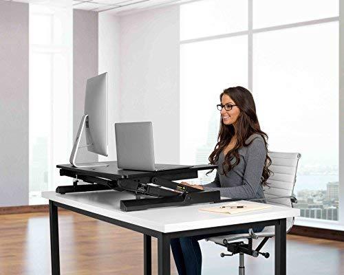 Phoenix Desks - Electronic Motorized Height Adjustable Standing Desk - 36'' (Black)