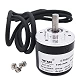 TWTADE / 100P/R Incremental Rotary Encoder DC 5-24V Wide Voltage Power Supply 6mm Shaft AB Two Phases
