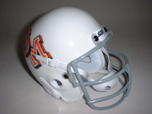 Schutt 1970 Miami Hurricanes Throwback Mini Helmet