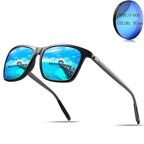 (Fashion Lady Custom Made Myopia Polarized Sunglasses Men's Driving Mirror Square Optical Eyeglasses UV400 (-550) )