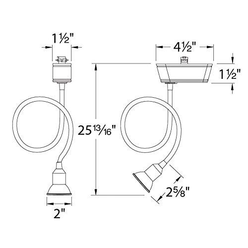 WAC Lighting JHT-204L-BK J Series Low Voltage Track Head, 75W by WAC Lighting (Image #2)