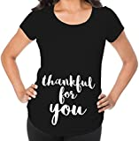 Awkward Styles Thankful for You Pregnancy Announcement Maternity T Shirt Expecting Mom Gift Black 2XL