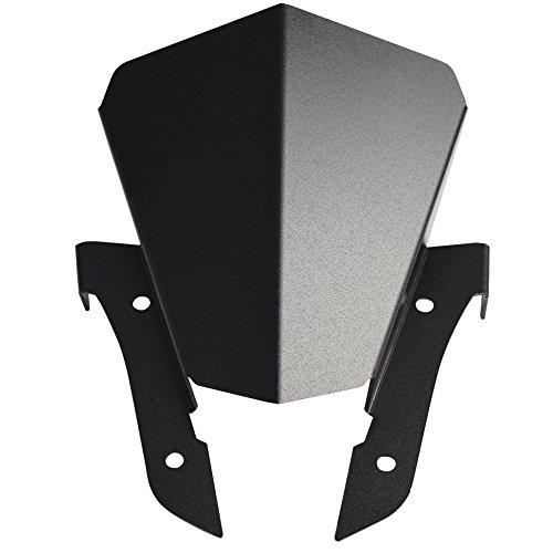 Amazicha Black Windscreen Windshield for Yamaha FZ-07 FZ07 2013-2017