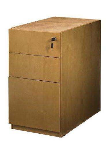 Mayline Luminary Box/Box/File Pedestal for Desk Maple