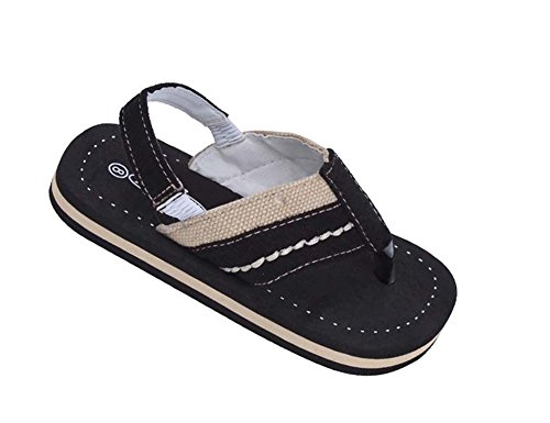 Image of Brand New Toddlers Thong-Style Black Sandals Size 5