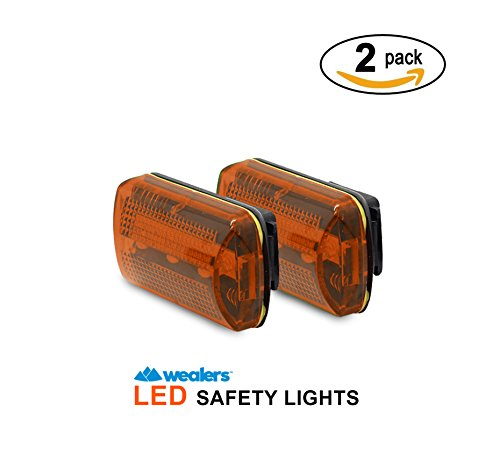 Rear Bicycle Flasher (Bike Tail Lights - Rear Safety LED Lights with Belt Clip 7 Lighting Modes Strobing or Steady - 2 Pack Water resistant Safety Lights Up to 100 Hours for Jogging   Cycling   Hiking   Skiing  )