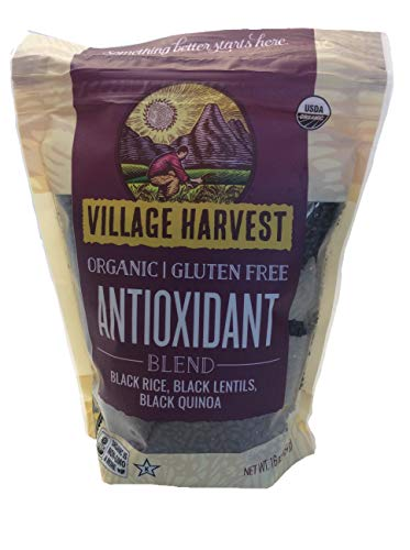 Organic Antioxidant Blend, Net Wt 16 oz, Black Rice, Black Lentils, Black Quinoa