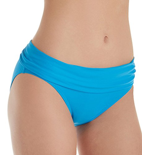 Sunsets Women's Unforgettable Shirred Band Bikini Bottom Swimsuit, French Blue, 14