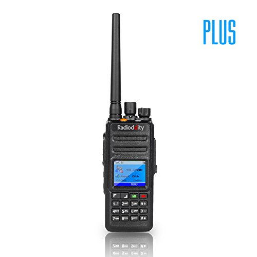 Radioddity GD-55 Plus 10W IP67 Waterproof UHF 400-470MHz 256CH 2800mAh DMR Two Way Radio Ham Radio Compatible with Mototrbo Dual Time Slot, with Free Programming Cable+ 2 Antennas + Remote Speaker by Radioddity (Image #1)
