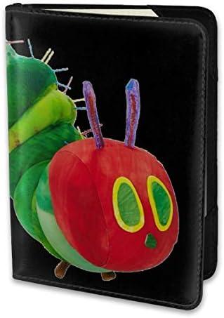 The Very Hungry Caterpillar はらぺこあおむし 絵本 パスポートケース メンズ レディース パスポートカバー パスポートバッグ 携帯便利 シンプル ポーチ 5.5インチ PUレザー スキミング防止 安全な海外旅行用 小型 軽便
