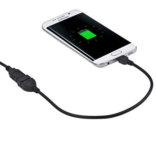 Mxnet USB 2.0 AF al cable micro del adaptador de OTG del varón del Pin del USB 5 para la galaxia S IV / i9500 / S III / i9300 / nota II / N7100 / i9220 / i9100 / i9082 / Nokia / LG / BlackBerry / HTC  20cm