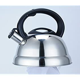 Maxware Stovetop Stainless Steel Whistling Tea Kettle, 3-Quarts (3 Quart)