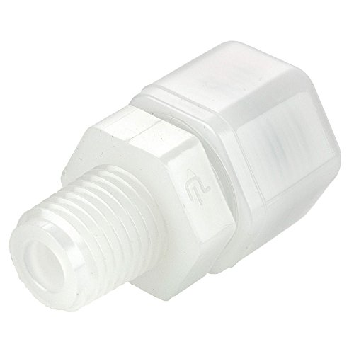 Parker N10MC8 Plastic Fitting, Fast-Tite, Tube to Pipe, Nylon, Compression and NPTF Connector, 5/8