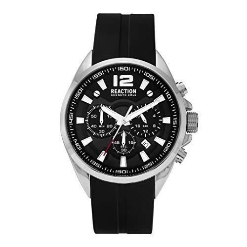 Kenneth Cole New York Male Quartz Watch with Silicone Strap, Black, 22 (Model: RK50812001)