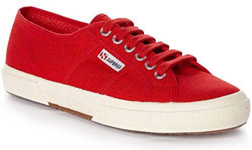 Low Cotu Sneaker Top Red Dark Superga Unisex 2750 Classic Red Adults' 5UZwnFXq
