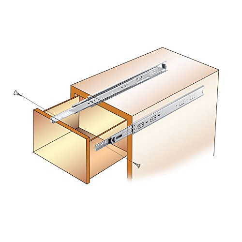 """KINGO Home 2 Pair of 18 inch Full Extension Stainless Steel Hardware Ball Bearing Side Mount Drawer Slides, Available in 10'' 12'' 14'' 16'' 18"""" 20"""" Lengths by KINGO HOME (Image #5)"""